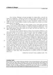 English Worksheet: Gulliver´s Travels - Reading comprehension, vocabulary and grammar