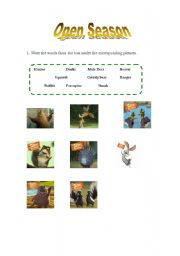 Open Season (1º part of worksheet)