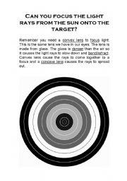 English Worksheets: Magnifying Light Target