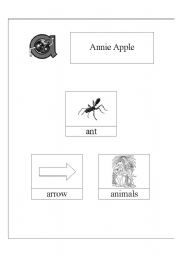English Worksheets Annie Apple And Bouncy Ben