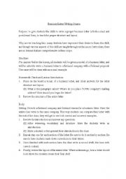 English Worksheets: Business Letter Writing Course