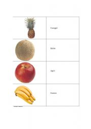 English Worksheets: Foodcards 3