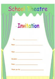English Worksheets: Invitation to school activity