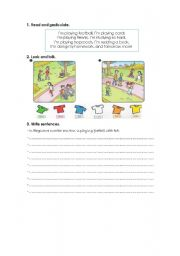 English Worksheets: actions and colours