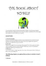 English Worksheets: The Book About Myself