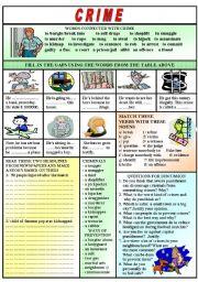 English Worksheet: Crime