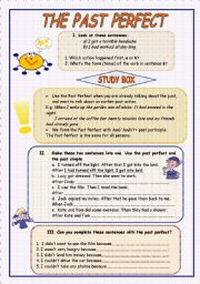 The Past Perfect (theory and practice) - ESL worksheet by moni_k