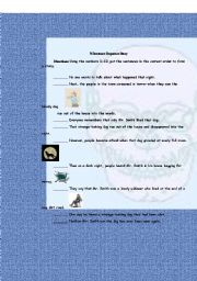English Worksheet: A Sentence Sequence Story