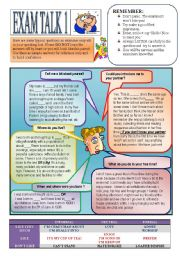 English Worksheets: Speaking Preparation 1. All about me.