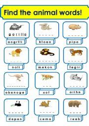 English Worksheets: animals(2/3)