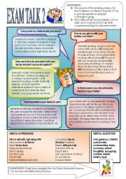 English Worksheets: More Speaking Preparation 2.  Family