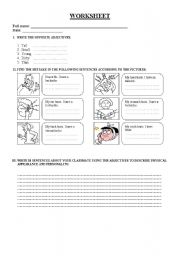 English Worksheets: small aches 2