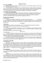 English Worksheets: Sample essays