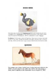 English Worksheets: Extinct animals