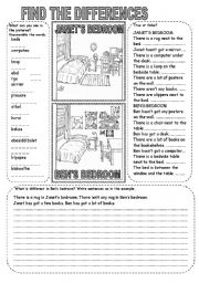 English Worksheets: FIND THE DIFFERENCES (4)