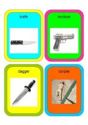 English Worksheets: cards : murder