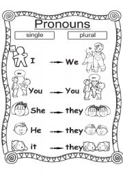 Pronouns single /plural