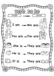 Verb to be - ESL worksheet by Sue.