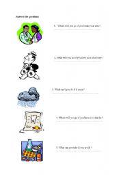 English worksheet: if clause type 1