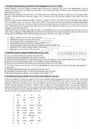 English worksheet: reading exercise for intermediate students
