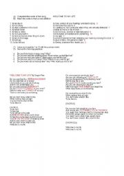 English Worksheet: welcome to my life-simple plan