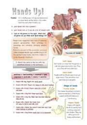 Hands Up! (Palmistry) - 2 pages with key