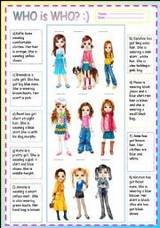 English Worksheet: GUESS WHO IS WHO? :)  PART 2 :) +answer key