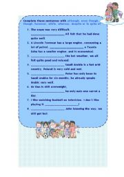 English Worksheets: CONJUNCTIONS EXERCISES