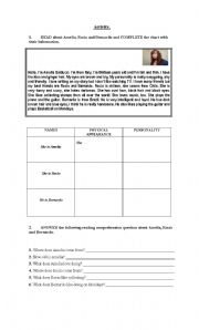Here vocabulary worksheets people personal profile personal profile