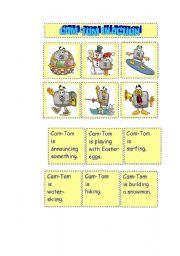 English Worksheets: CAM-TOM IN ACTION SET 2