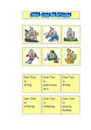 English Worksheets: CAM-TOM IN ACTION SET 3