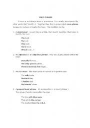 English Worksheets: the noun