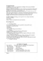 English teaching worksheets: Paragraph structure