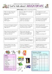 English Worksheet: Let�s talk about ADDICTIONS
