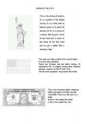 English Worksheets: symbols of the U.S.A.