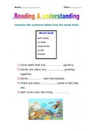 English worksheet: reading and understanding