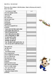 English Worksheet: Hot n� Cold - Kate Perry
