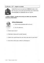 English Worksheets: British novelists