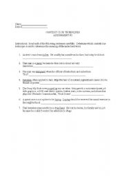 English Worksheets: Context Clues Worksheet 2