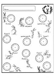 English Worksheets: Time to