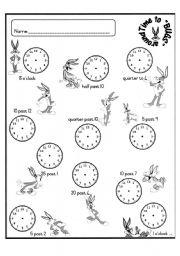 English Worksheet: Time to