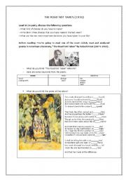 English Worksheet: Reading Robert Frost�s