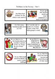 English Worksheets: Social Problems Discussion Part 1
