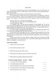 English Worksheets: green street