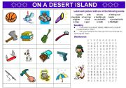 English Worksheets: ON A DESERT ISLAND: vocabulary + speaking activity