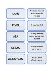English Worksheets: CLASSROOM DICTIONARY - SET 3/6: GEOGRAPHY