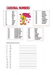 CARDINAL NUMBERS 1- 100 - ESL worksheet by burcinakkoc