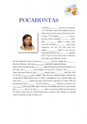 English Worksheet: Pocahontas