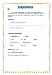 English Worksheets: Comprehention