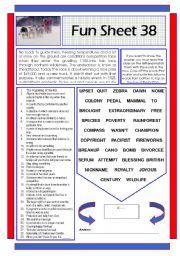 English Worksheets: Fun Sheet 38